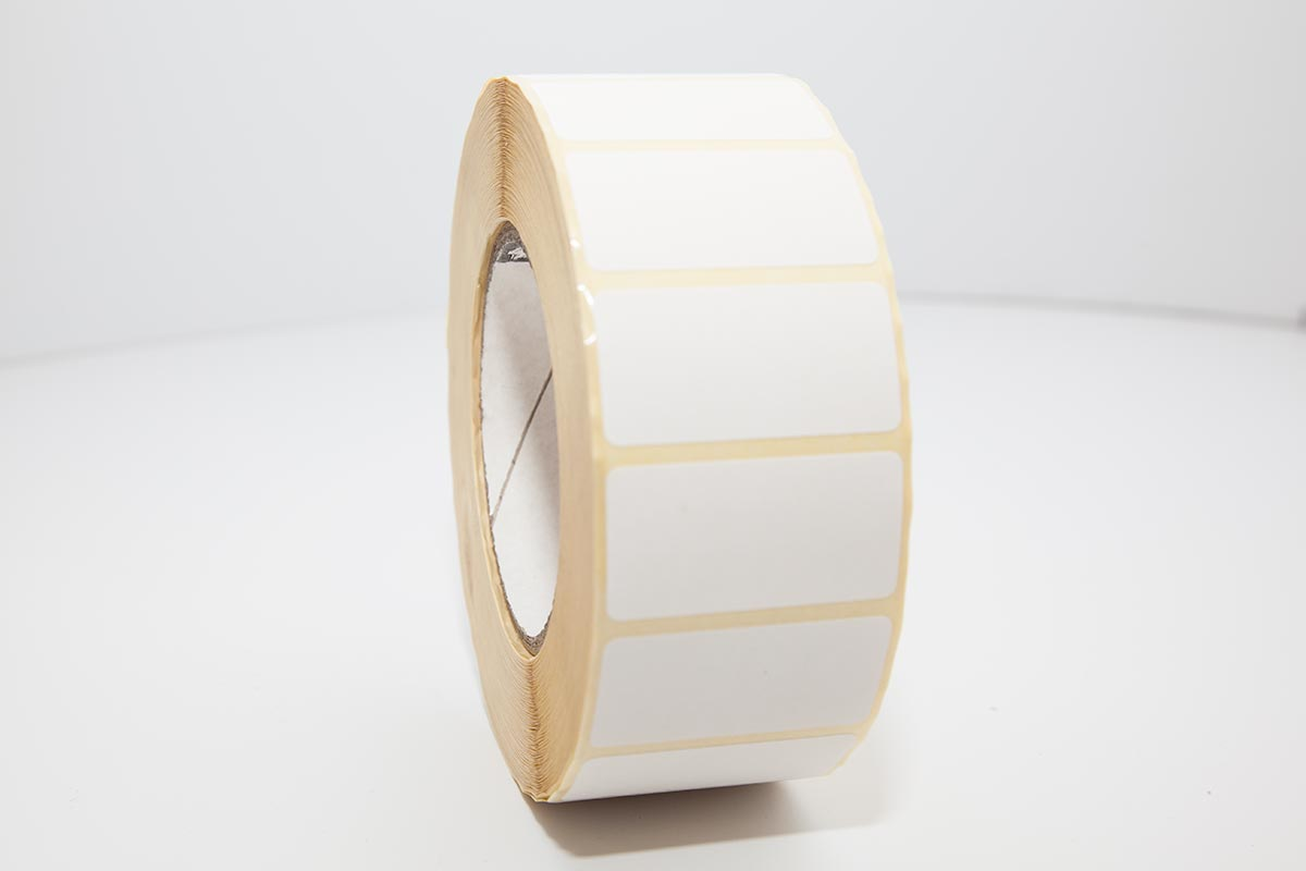 roll of plain thermal labels