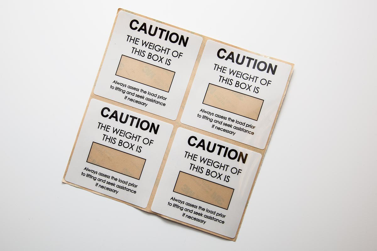 clear and opaque polyester caution labels